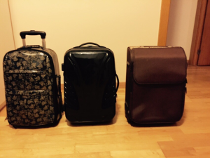 My three small suitcases