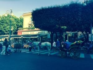 Coche de caballos Piazza Tasso