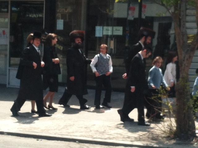 Judíos Ortodoxos en Brooklyn Williamsburg
